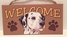 Welcome Dalmatian Dog Breed Wood Sign Plaque New