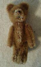 "Schuco Mohair 3-1/2"" Cinnamon Brown Teddy Bear Jointed Black Shoe Button Eyes"