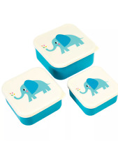 Elvis the elephant set of 3 lunch boxes picnic school snacks boys girls gift
