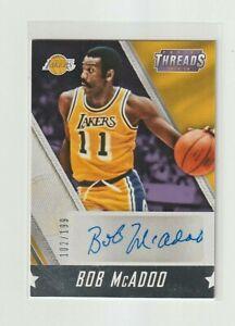 2015-16 Panini THREADS Bob McAdoo AUTO S/N 102/199 LA Lakers HOF