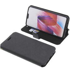 Custodia Per Oppo R15 Pro Book-Style Protettiva Cellulare a Libro Nero