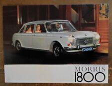 MORRIS 1800 orig 1967 UK Mkt Sales Brochure - BMC 2339/B
