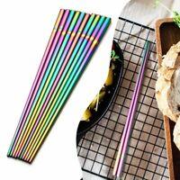 - tool home & living geschirr edelstahl chinesische stäbchen regenbogen - und