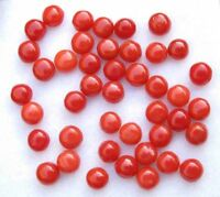 Natural Italian Red Coral 6x4mm Oval Cabochon Loose Gemstone Lot