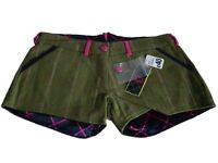 Rydale Jessica Tweed Shorts Wool Green Pink Lined Equestrian Country Sport - New