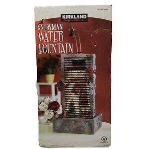 Kirkland Signature Snowman Water Fountain Costco Vintage Rare New