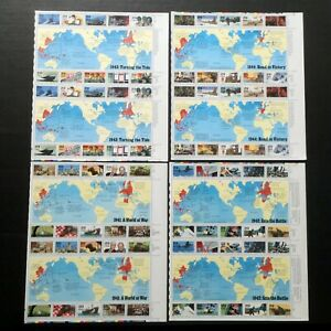 FV$23.20 CV$79 in # 2559 2697 2765 & 2838 WWII MINT Full Postage Sheets