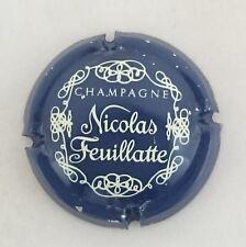 capsule champagne  NICOLAS FEUILLATTE n°11a bleu foncé et blanc