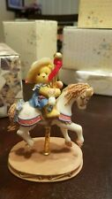 Cherished Teddies - Gina - Girl On Horse Carousel Figurine - 502898 - 1998