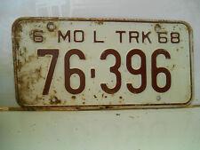 plaque immatriculation  usa 1968 missouri license plate old americaine