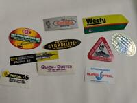Retro Mining Sticker - 10 Stickers as pictured (Lot 39)