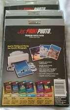 """Jet Print 3 Pkgs Premium Photo Paper Brilliant Gloss Finish 4 x 6"""" NEW"""
