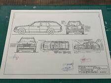 Mercedes W124 Kombi ab 1992 Blueprint / Konstruktionszeichnung