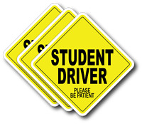 3 pack Student New Driver please be patient bumper sticker decal car truck Vinyl