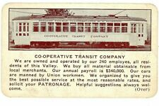 Original, vintage:  Co-Operative Transit Company, 1935 wallet calendar