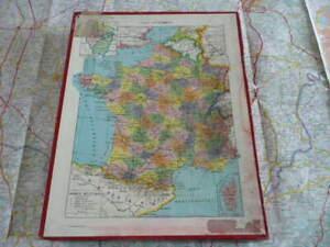 Puzzle Carte de France et Europe complet dans sa boîte d'origine Larousse