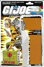 1988 Tiger Force Lifeline v.2 UNCUT CARD BACK full file card backer GI Joe JTC