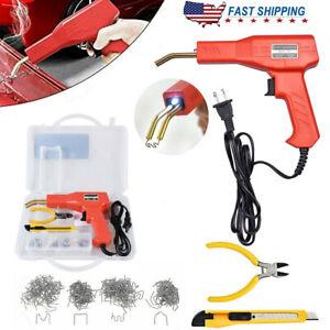 Hot Stapler Plastic Repair Car Bumper Welding Welder Machine Gun Kit + Staples