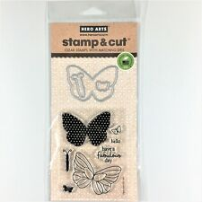 Hero Arts Stamp & Cut Butterflies Clear Stamp Die Set Phrases Sayings Butterfly