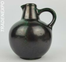Vintage 60-70s RUSCHA KERAMIK Small Green Vase 304 West German Pottery Fat Lava