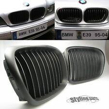BMW E39 5er M5  LOOK  1995 - 2004 NIEREN GRILL SHADOW LINE IN MATT SCHWARZ