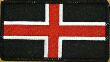 DURHAM ENGLAND FLAG Embroidered Iron-On PATCH  UK EMBLEM BLACK Border #04