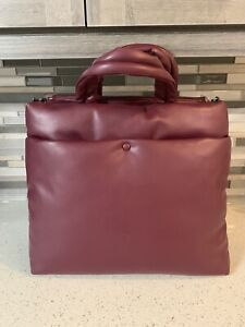 New Without Tags A New Day Brand Burgundy Large Computer Bag Tote
