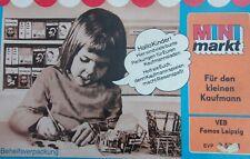 Mini Markt Kinder Kaufladen DDR mit Produkten, Geld Famos Leipzig