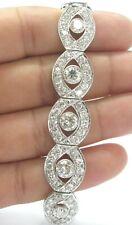 "Braided Round Diamond Platinum WIDE Milgrain Tennis Bracelet PT950 13.60Ct 7.25"""