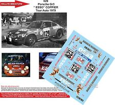 Decals 1/43 réf 629 Porsche Gr 3 Esso  COPPIER Tour Auto 1979