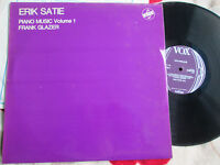 Erik Satie Frank Glazer Piano Music Volume 1 VOX STGBY 633 UK Vinyl LP Album