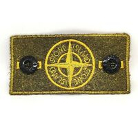 GOLD Frosted Bespoke Customised Stone Island Badge made from original badge