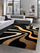 Tapis designer carpette du salon vagues marron noir