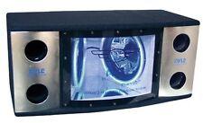 "Pyle PLBN122 Bandpass Box Dual 12"" Blue LED Woofer Rings"