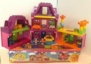 Mega Bloks Girl Friends My Style Home House 2002 Furniture Figures Dollhouse Set