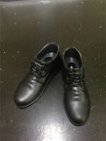 """1/6 Black Men High Heel Casual Leather Shoes F 12"""" Male Action Figure Body Toys"""