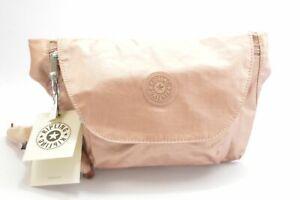 Kipling AC8249 6RS Arvin Rose Gold Metallic Nylon Convertible Cross Body Belt...