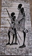 1X Batik Afrikanische Malerei auf stoff einzigartige Wohnkultur Leinwand bilder