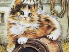 """1985 Royal Worcester/Pam Cooper Kittens Classic 6th Issue """"Country Kitty"""" Nib"""