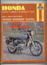 Honda CB250T CB400T CB400A (1977-1979) Haynes Manual Dream Hawk CB 250 400 CR56