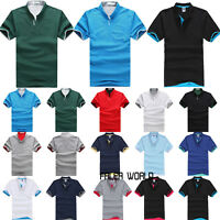 Men's Casual Slim Fit Shirt Tee Short Sleeve Summer Stylish Cotton T-shirts Tops