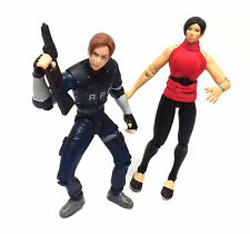 Vintage 90's Resident Evil LEON & ADA horror zombie dead video game figures set
