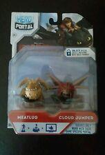 New 2014 Hero Portal Dreamworks Dragons Meatlug And Cloud Jumper Jakks Pacific