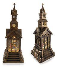 Large Christmas Metal LED Water Spinner Church Lantern Carol Singers 35cm Tall