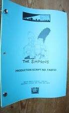 THE SIMPSONS RARE  TV SERIES SHOW SCRIPT EPISODE MARGE VERSUS SINGLES