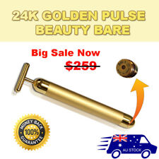 Beauty Bar 24K Golden Pulse Skin Care Anti-Aging Facial, Eye Massager