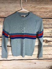 Mont Blanc Ultra Rare Sweater 100% Wool Small Size 8 Damaged