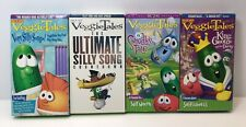 Lot Of 4 Veggie Tales VHS Silly Songs Selfishness