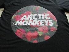 Arctic Monkeys Black White Flowers Roses T Shirt Size S Small
