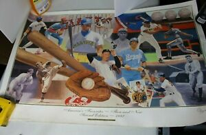 "1992 ""Then and Now"" Nabisco Co Baseball Greats 20x30 poster"